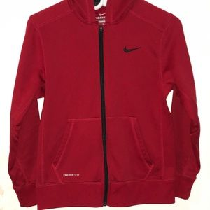 Red therma-fit Nike sweater